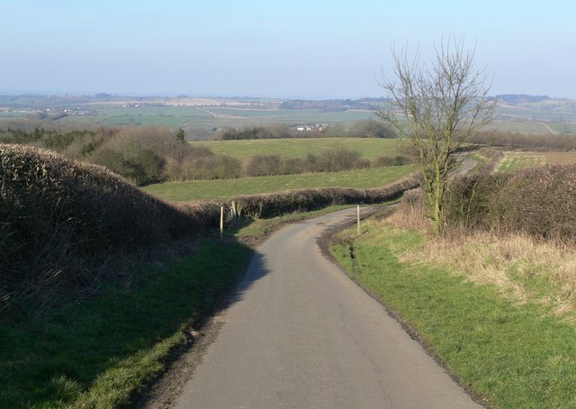 Travelling north along Marefield Lane