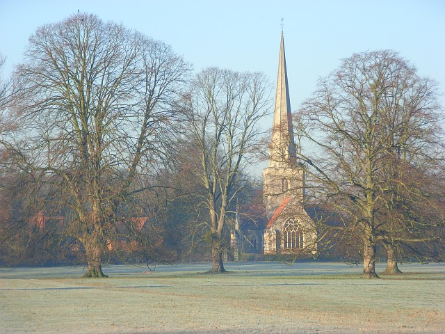 Shottesbrooke Park and St John the Baptist's church