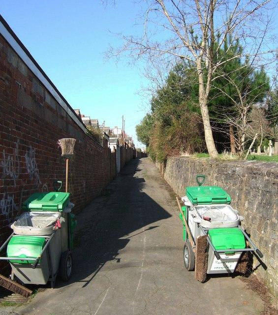 Street cleaners' trolleys