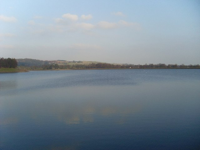Looking across Craigmaddie Reservoir