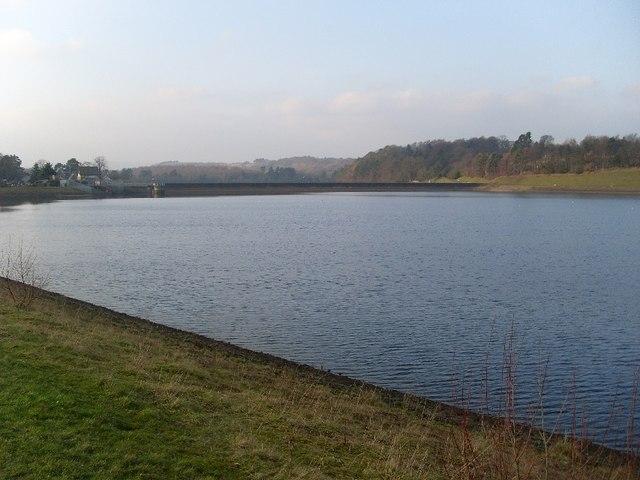 Looking back across Craigmaddie Reservoir