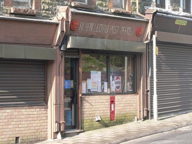Blaenllechau: post office and postbox № CF43 121