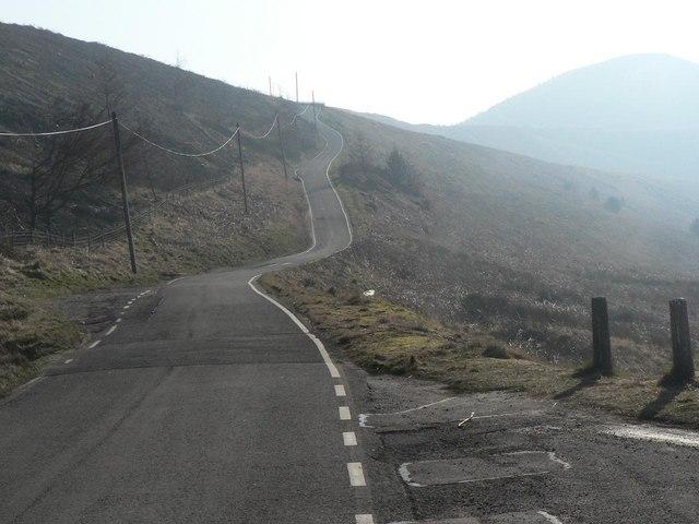Blaenllechau: the road to Llanwonno