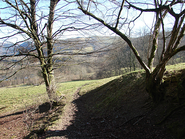 Bridleway across Troed-rhiw-felen