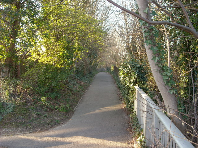 Footpath to St Peter's Church, Bexhill-on-Sea
