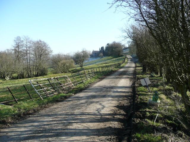 Road to Bwlch Farm