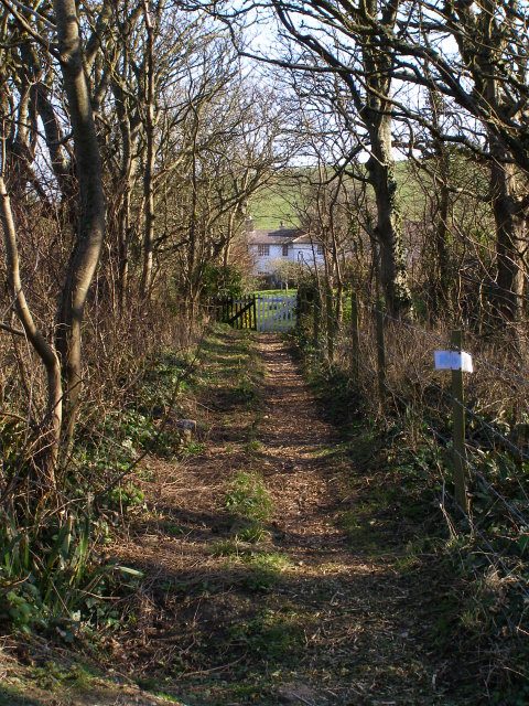 Path to the Coastguard Cottages, Kimmeridge Bay