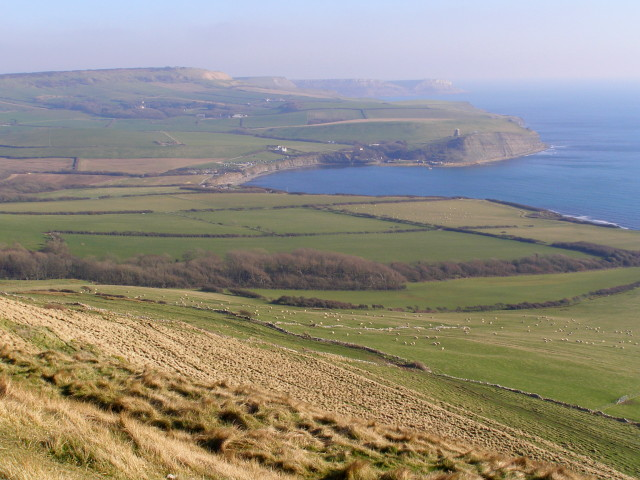 View east-southeast from Tyneham Cap