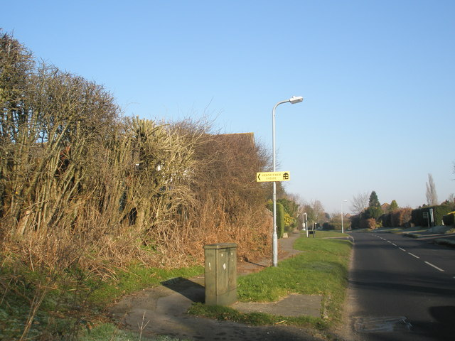 Sign to Herne Farm in Pulens Lane