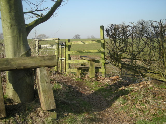 Stile to a recently sown field