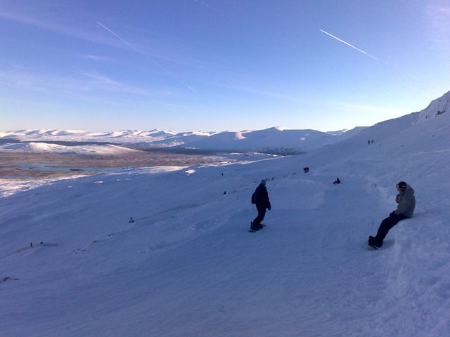 Boarding At The White Corries
