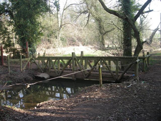 Footbridge across Wesley Brook