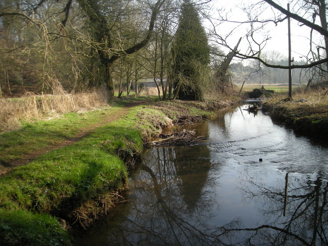Downstream from the footbridge
