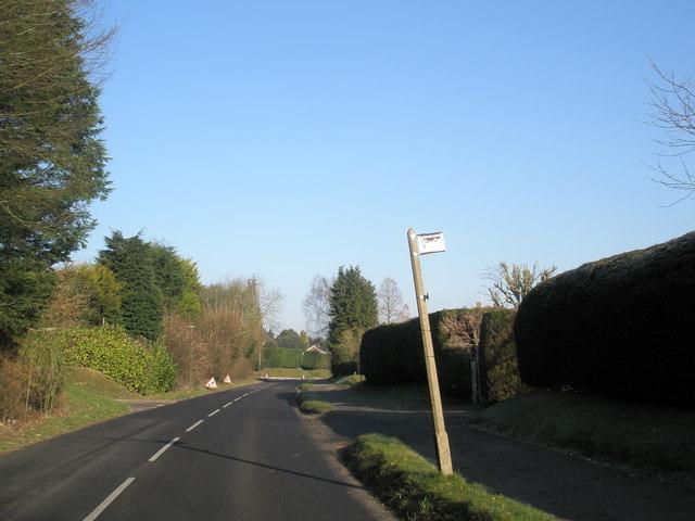 Bus stop in Pulens Lane