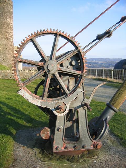 Derrick mechanism near Conwy castle