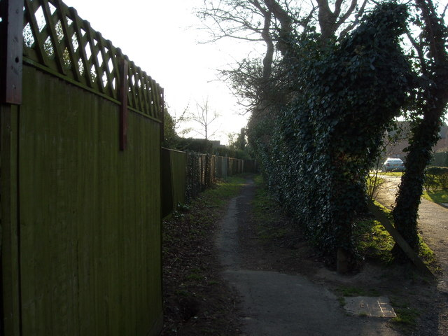 Footpath at Portland Close, Bexhill-on-Sea