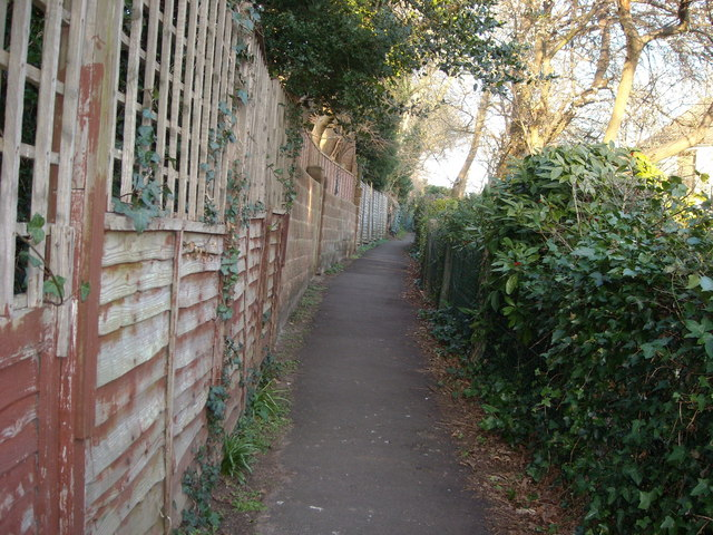 Footpath at The Glades, Bexhill-on-Sea