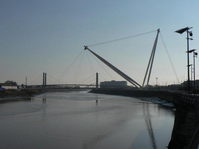 Newport: the footbridge