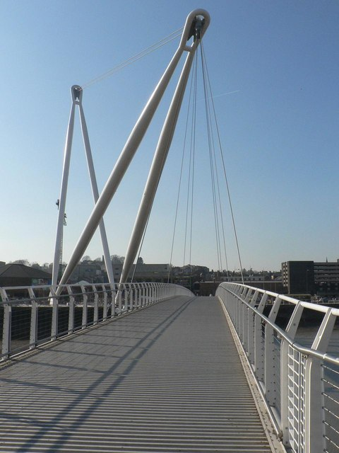 Newport: footbridge walkway