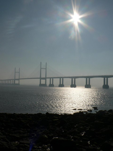 Second Severn Crossing: against the sun