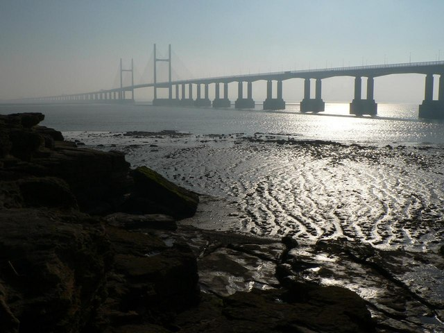 Second Severn Crossing: view from Sudbrook