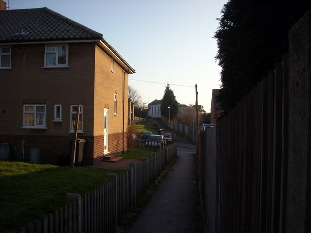 Footpaths to Belle Hill, Bexhill-on-Sea