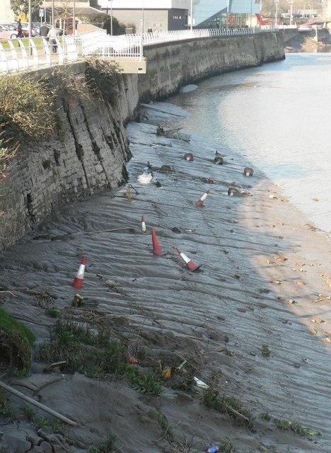 Newport: traffic cone graveyard
