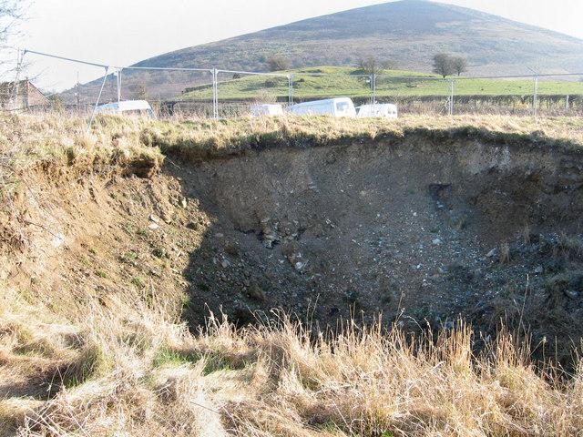 Subsidence near Corndon Hill