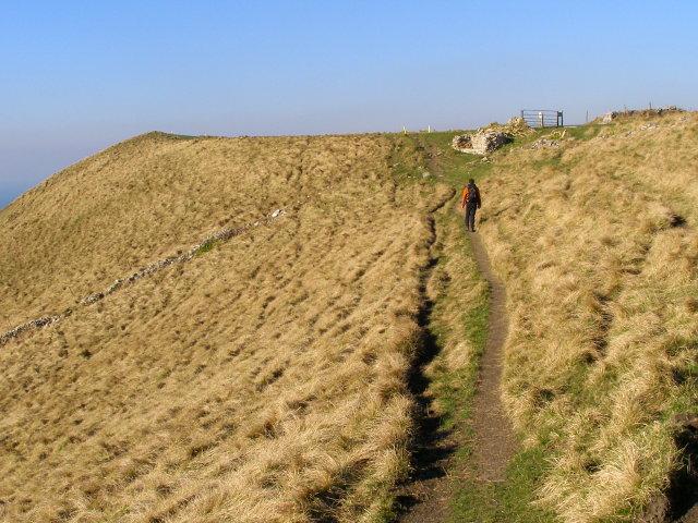 Coast path between Tyneham Cap and Gad Cliff