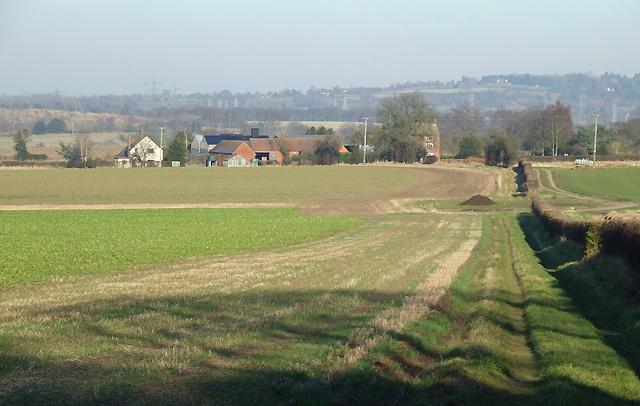 Crop Fields south of Seisdon, Staffordshire