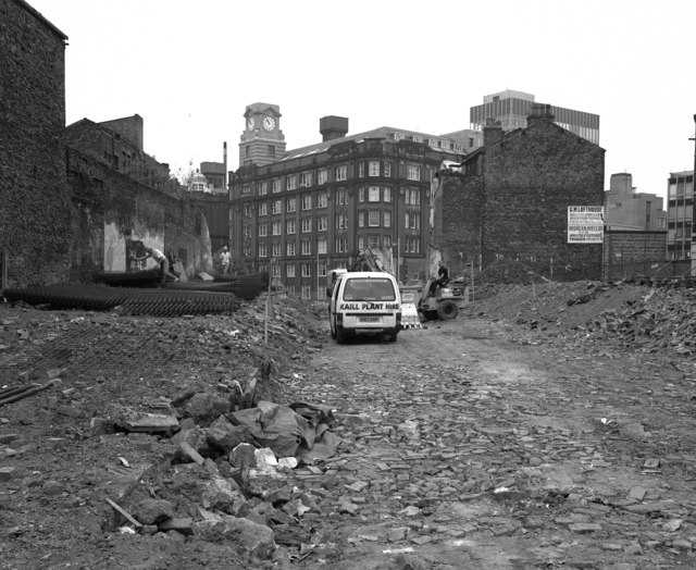 Snow Hill, looking from Shudehill, Manchester