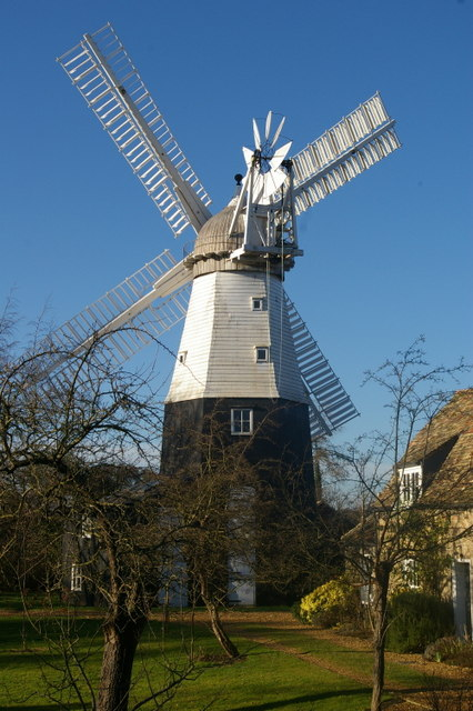 Close up of Impington Windmill