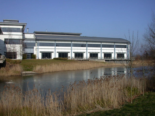 Lake and Building 9000, Cambridge Research Park