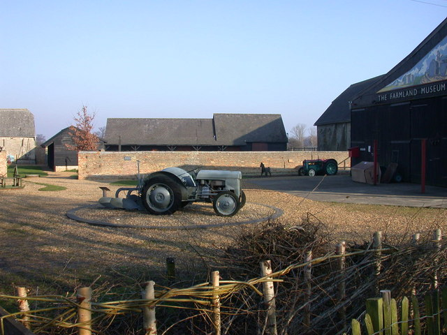 Tractor exhibits at the Farmland Museum