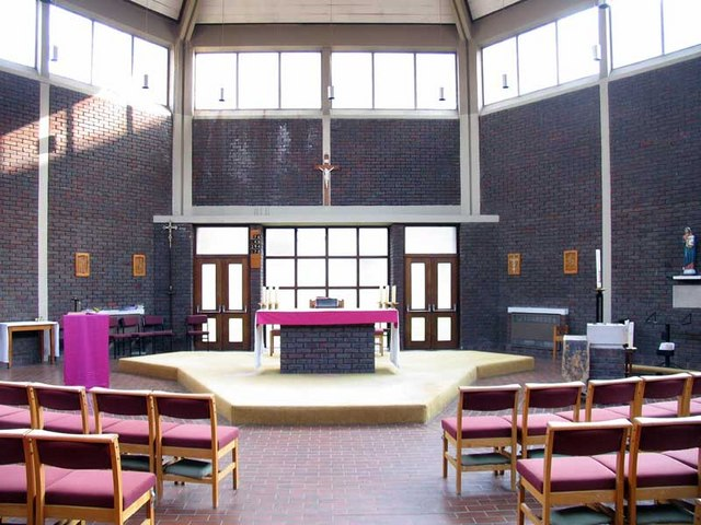 St Augustine, Great Field, Grahame Park, London NW9 - East end