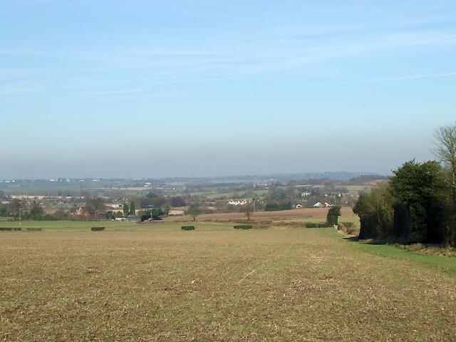 Crop Fields towards Seisdon, Staffordshire