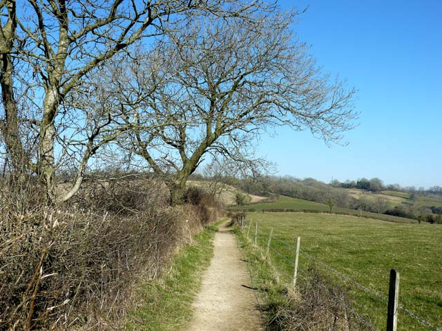 The Cotswold Way above Kelston
