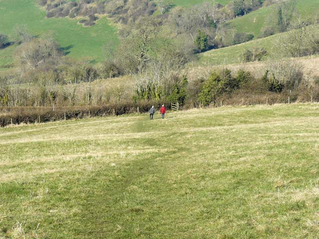 Permissive Footpath leading down from Kelston Round Hill