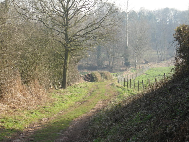 Bridleway into Worfe valley