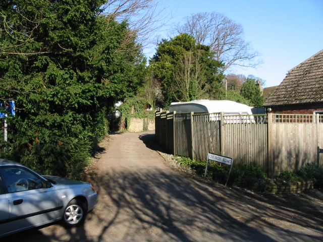 Church Road leading to the church, Northbourne