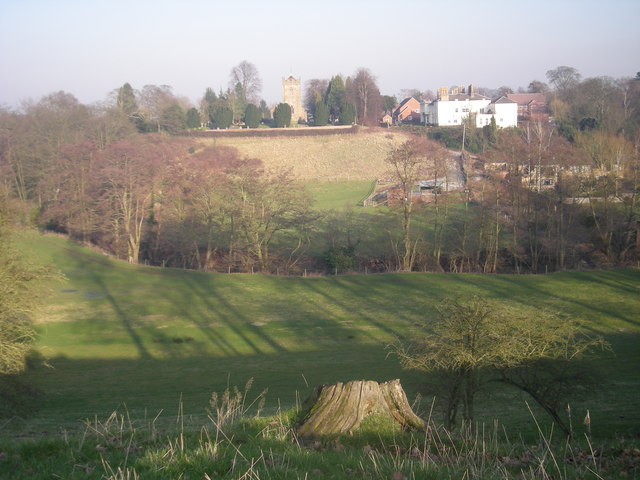 Ryton from across the Worfe valley