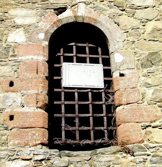 Door detail, Invermark castle.