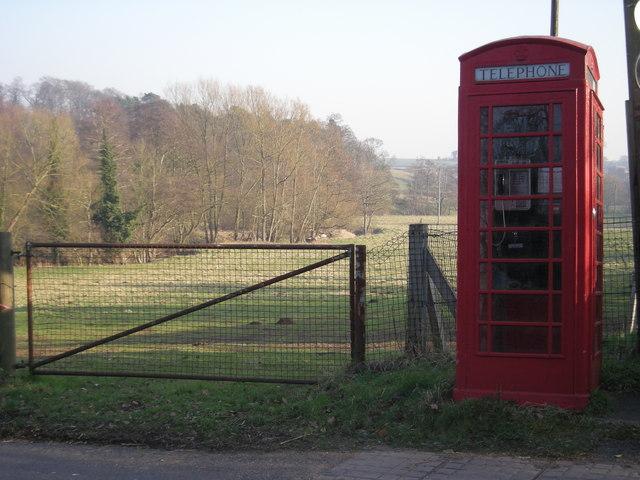 Telephone box & the Worfe valley