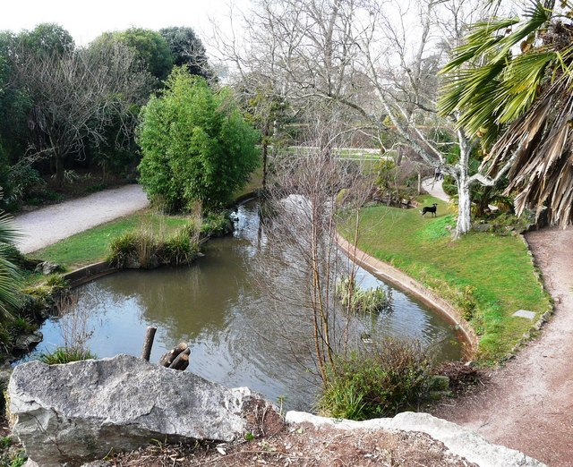 Ornamental pond, Oldway mansion, Paignton