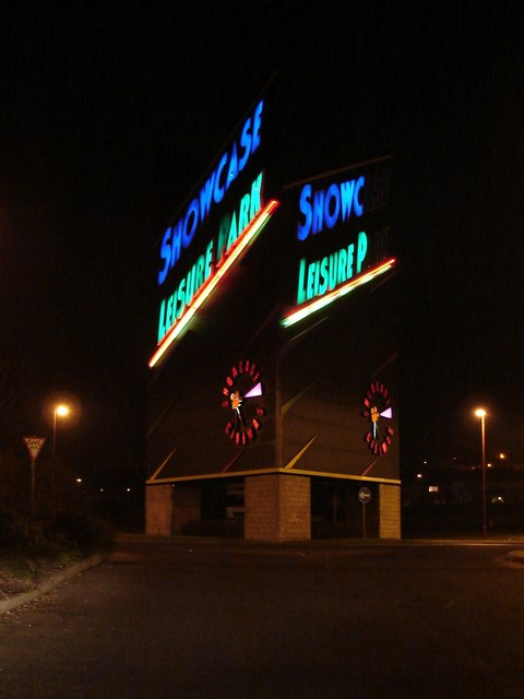 Illuminated Sign at Showcase Leisure Park