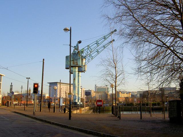 Cranes on Salford Quays