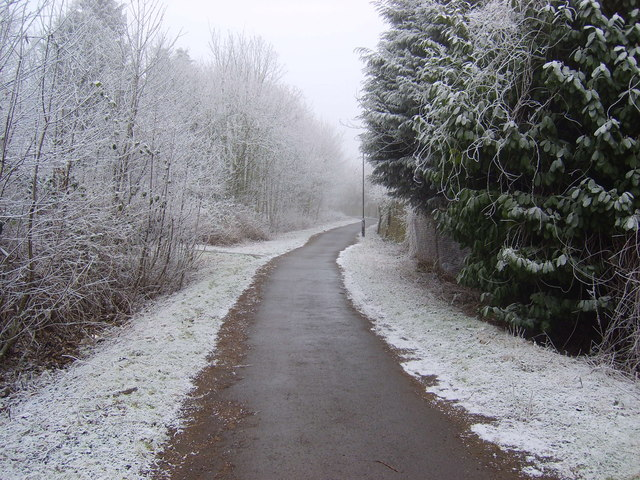 Snow on Sustrans Route 66