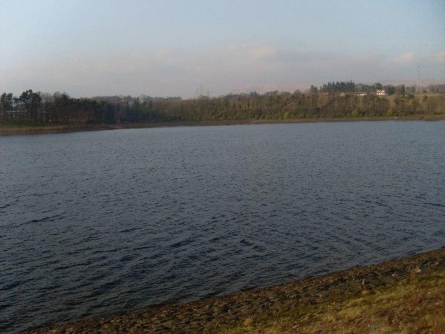 Looking northwest over Craigmaddie Reservoir