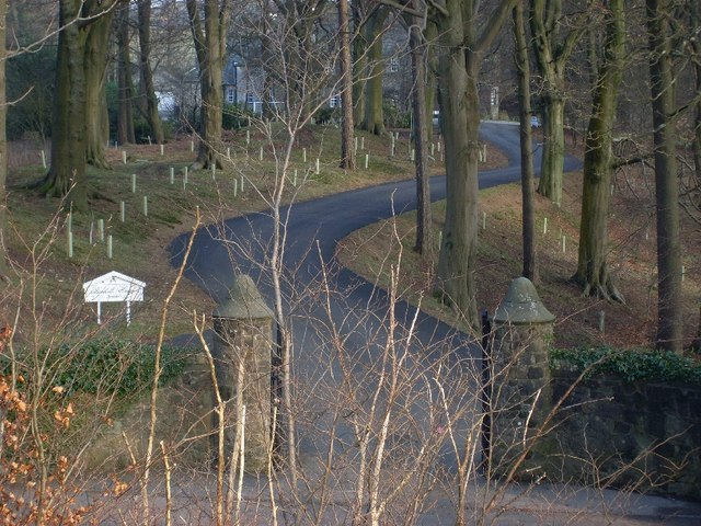 Private road to Bankett House