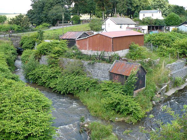 River Rhymney near to Rhymney Cemetery